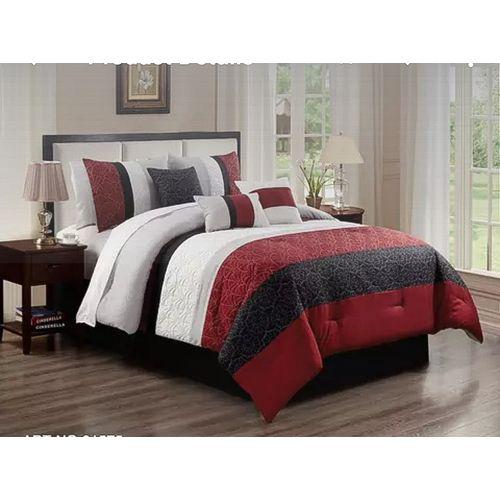 Duvet/Comforter Bedding Set Of 6- Multicolor