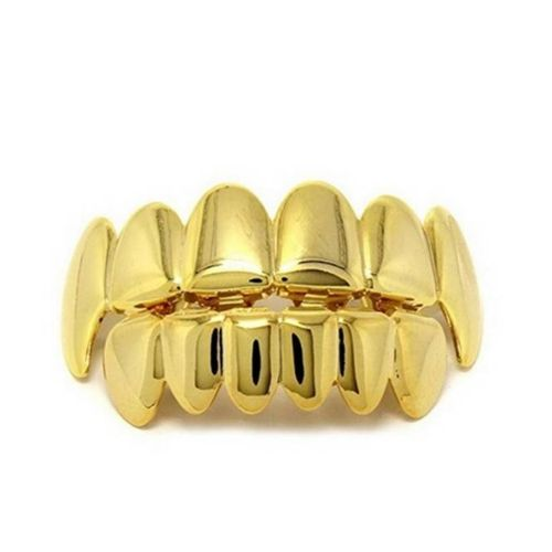Dama Plated Grillz For Mouth Top Bottom Hip Hop Teeth