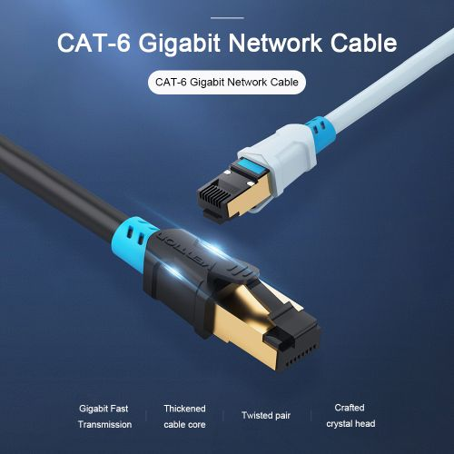 VENTION Cat 6 Ethernet Cable Gigabit Speed Flat Network