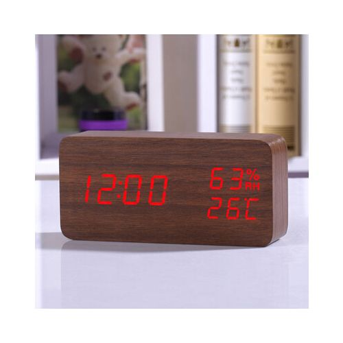 Temperature Humidity Desktop Digital Table Clocks