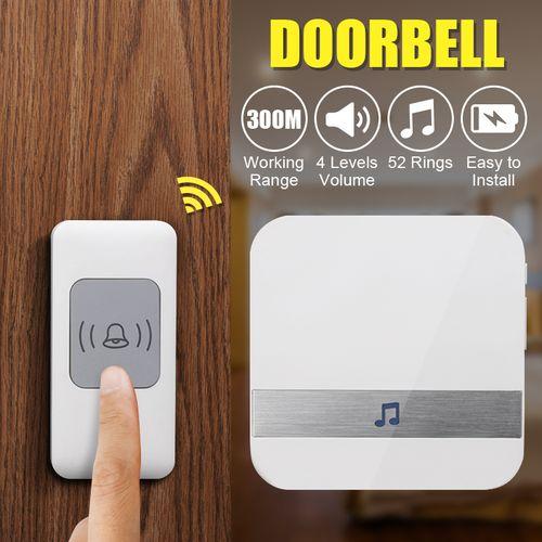 No Battery A9 White Smart Doorbell?EU Plug?