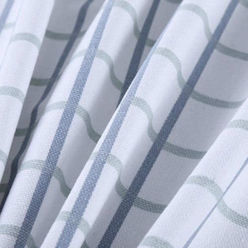 Blue Grid Cotton Linen Table Cover Cloth Wipe Clean Party Tablecloth Covers 140/180CM