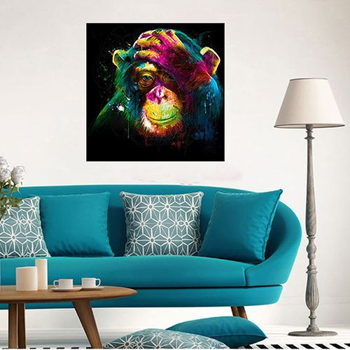 Unframed 5D DIY Painting Diamond Colorful Monkey Embroidery Cross Stitch Home Wall