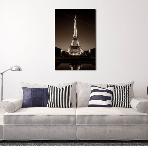 Canvas Wall Art Painting Printed Picture For Home Office Bathroom Decor Eiffel Tower Pattern