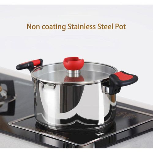 Xiaomi Mi Home Non-coating Stainless Steel Stock Pot Healthy And Safe Made Silver