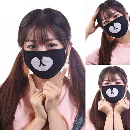 Kawaii Unisex Ayo And Teo Face Panda Bear Mouth Mask Ornament Outdoor