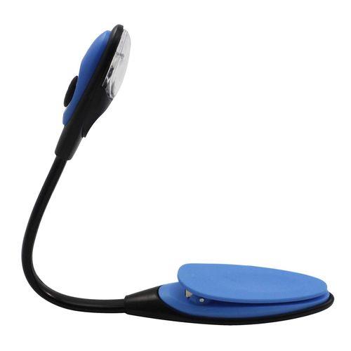 Blue Flexible Reading Lamp Mini LED Clip Booklight