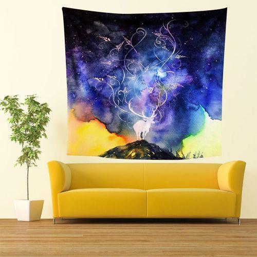 Muliawu Store Fashion Print Wall Hanging Tapestry Beach Picnic Throw Yoga Mat Towel Blanket-Blue