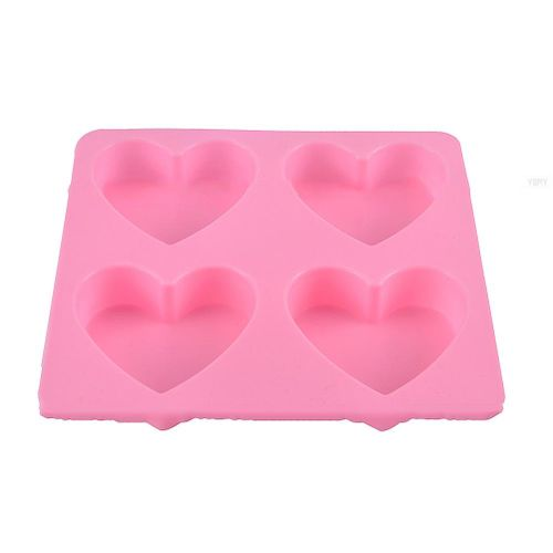 Silicone Heart Shaped Fondant Mold Cake Decorating Supply Sugarcraft Baking Tools Heart Chocolate Mould Ice Cube Soap Mold Pink For Cake Decorating