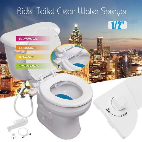 Non Electric Bidet Toilet Seat Cover - Bathroom Bidet Spray Smart Cleaning