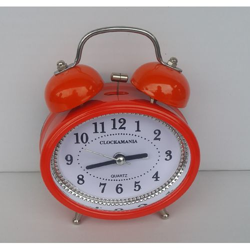 OVAL Shaped Bell Alarm Clock - Orange