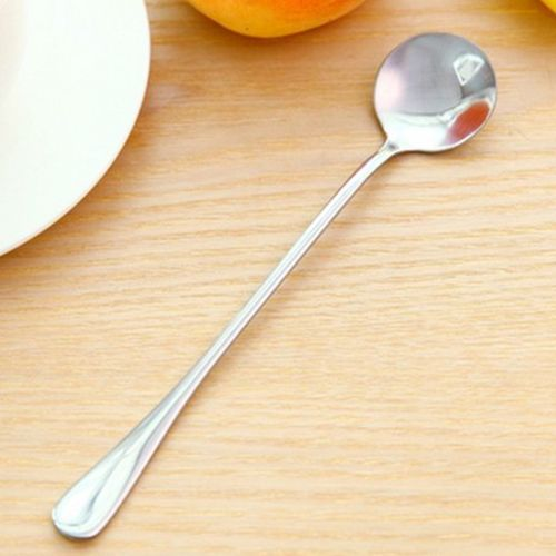 Long Handle Tea Coffee Spoons Ice Cream Cutlery Stainless Steel Nt