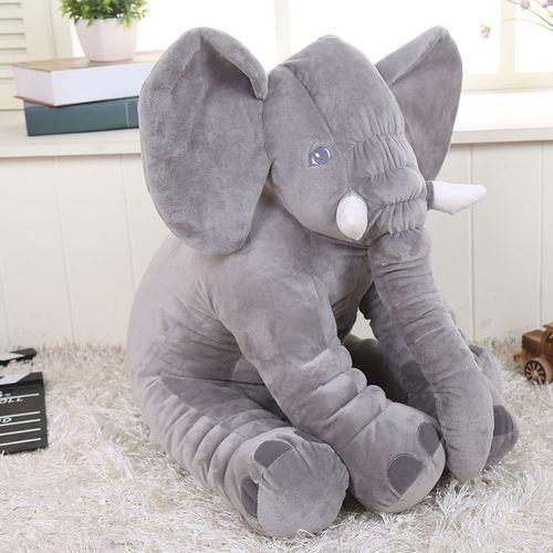 Large Long Nose Elephant Sleep Baby Plush Toy Lumbar Cushion Doll