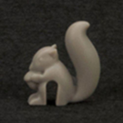 Cute Squirrel Shape Silicone Tea Bag Holder Cup Mug Hanging Tool Gray