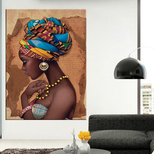 Africa Canvas Painting Wall Art Painting Pictures Posters And Prints Black Woman On Canvas Home Decor Wall Pictures Living Room