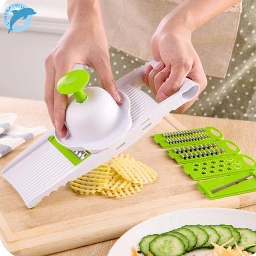 Multi Mandoline Vegetable Slicer & Grater Kitchen Set- Dicer Slicer Potato Carrot Dicer Salad Makeristant