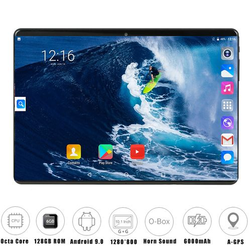 2020 Inch Tablet PC 4GB RAM 64GB ROM 1280*800 IPS Chip SIM Card 4G LTE FDD Wifi Android 9.0 Tablet-black