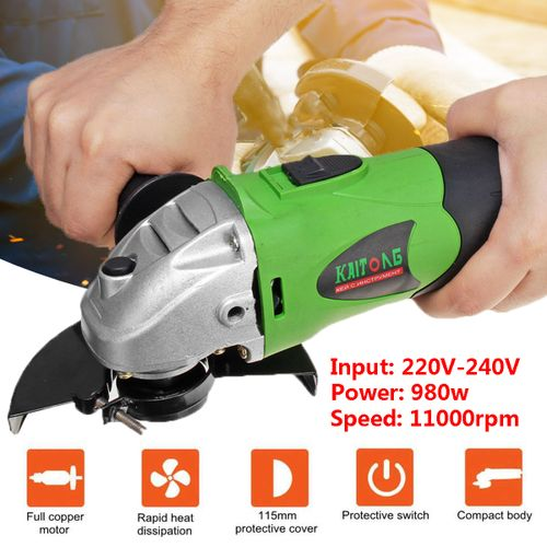 980W Angle Grinder 115mm - 125mm Electric Grinding Machine Metal Cutting