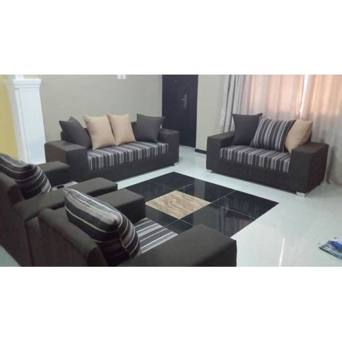 7 Seater Fabric Sofa Settee- Brown with Free Ottoman(lagos Only