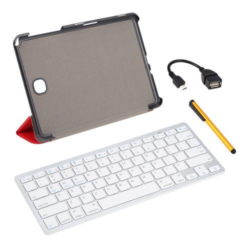 Wireless Keyboard Folding Foldable Magnetic PU Leather