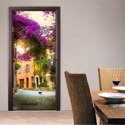 Waterproof 3D Landscape Wall Door Fridge Stickers PVC Removable Art Wall Decals Murals Home Bedroom Living Room Decoration#DM005