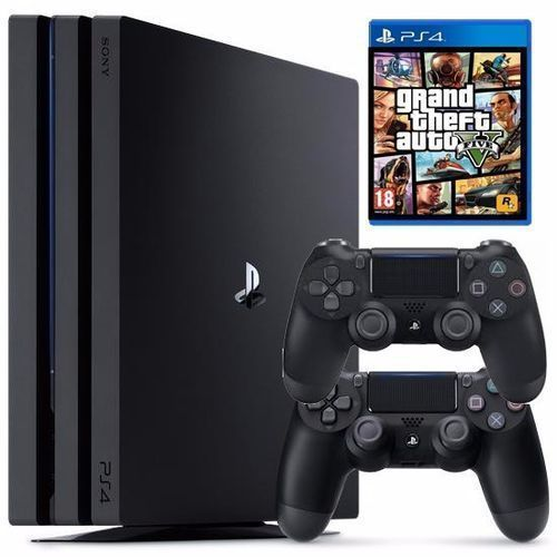 PS4 Pro 1tb Console + GTA 5 + Extra Controller