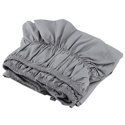 Fdit Elastic Ruffle-pleated Polyester Bed Skirt (Grey)