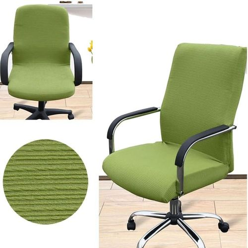 Arm Chair Cover Three Sizes Office Computer Chair Cover Side Zipper Design Recouvre Chaise Stretch Rotating Lift Chair Cover