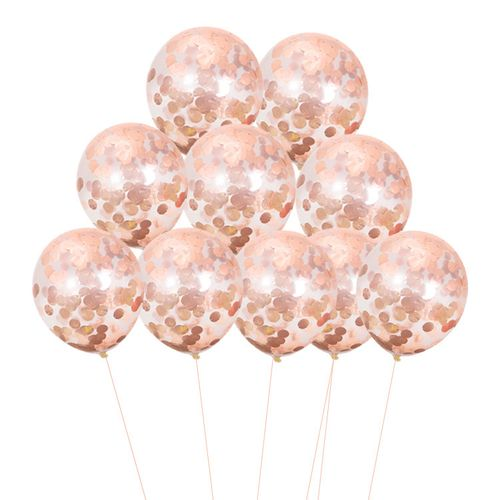 20pcs Confetti Balloon 12inch 2.8g/pcs Balloon-rose Gold