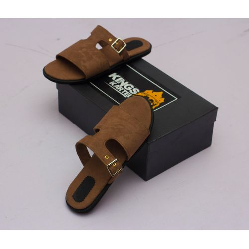 Bruze Brown Suede Slide