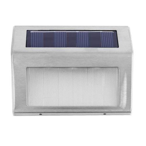 Toye Waterproof Stainless Steel Solar 3 LED Wall Fence Floor Stairs Corner Light