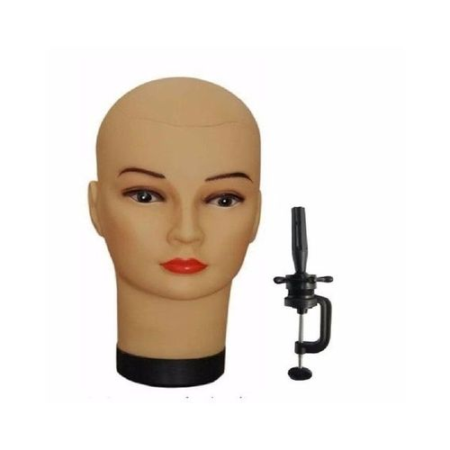 Plastic Mannequin Head With Clamp For Wig Making
