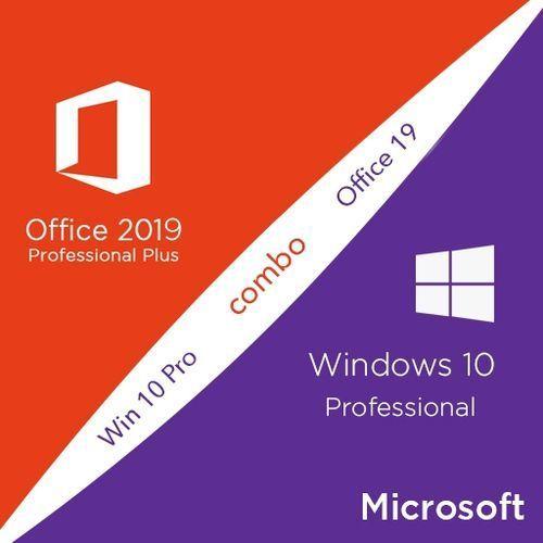 Windows 10 Pro + Office 2019 Professional Plus CD Keys Activation Pack