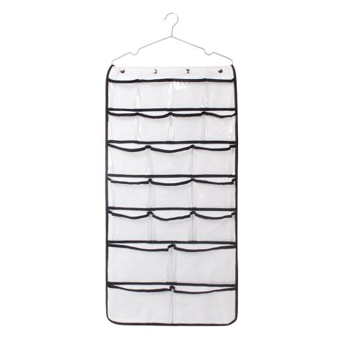 Dual-Sided Hanging Closet Organizer 42 Pockets Jewelry