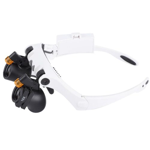 2LED Lamp 21 Combination Headband Lupe Magnifying Glass With Interchangeable Lens