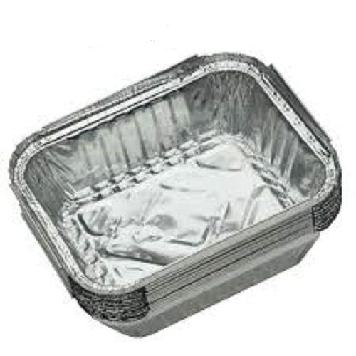 Medium Size 100 Folded Aluminium Foil Take Away Plate