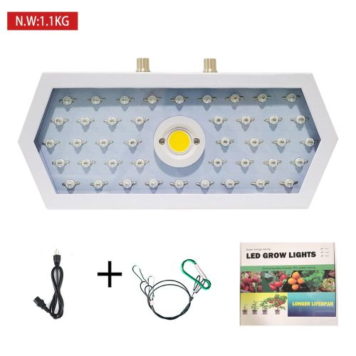 Long Hexagonal LED Grow Light Full Spectrum Double Chip For Plants VEG BLOOM White