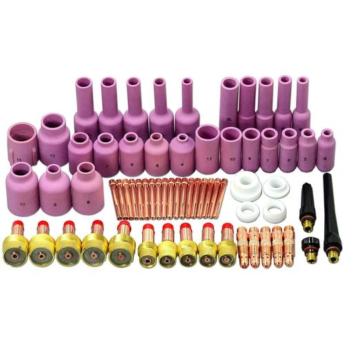 67pcs TIG Welding Torch Gas Lens Consumables For WP17/18/26