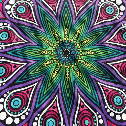 Generic Round Printing Hippie Tapestry Beach Picnic Throw Yoga Mat Towel Blanket