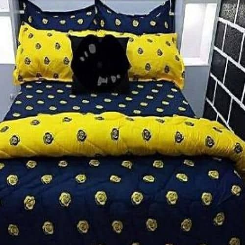 Bedsheets With Pillow Cases- Yellowblue