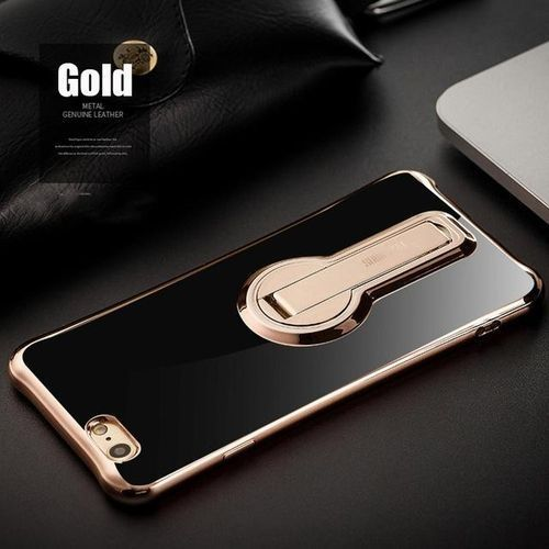 Stand Phone Case Cover For IPhone 6 Plus / 6s Plus Fashion Shockproof Soft TPU Case With Free Adjustable Bracket For IPhone 6 Plus / 6s Plus - Gold