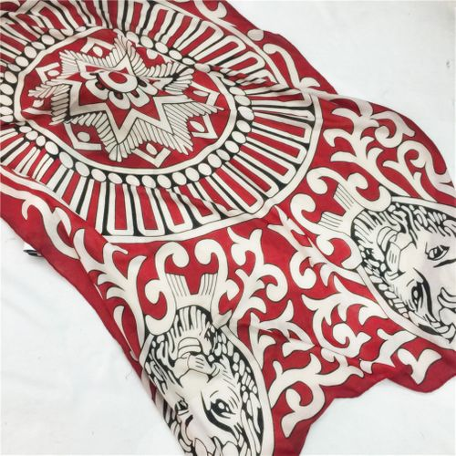 Personality Style Wind Scarf Shawl Swimming Beach Towel Sunscreen Silk Scarf Red