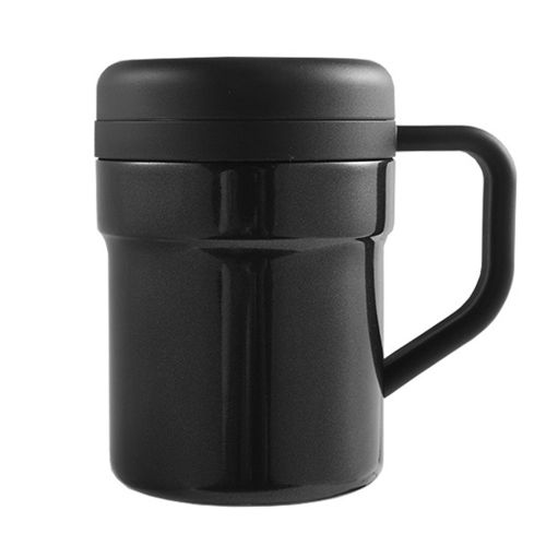 400ml Automatic Electric Mug Self Stirring Stainless Steel Mixing Black