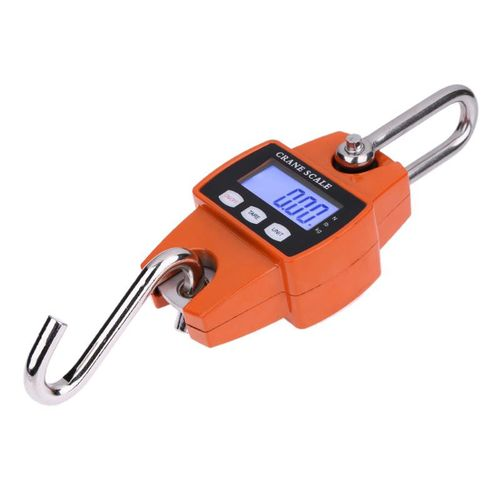 300kg Mini Crane Scale Portable LCD Digital Electronic Stainless Steel Hook Hanging Weight Crane Scales Weighing Balance