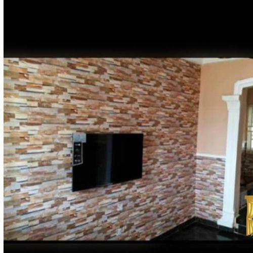 3D Wall Paper Brickstone