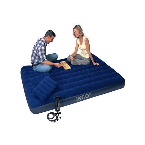Classic Queen Size Inflatable Air Bed + Pump & 2 Pillows - 2 Persons
