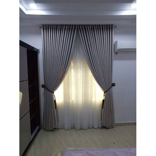 Ring Style Curtain - Grey