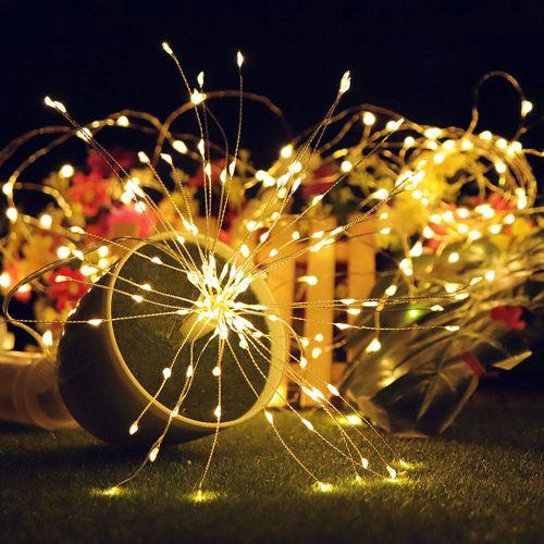 Firework Light 100LED Fairy Lamp Copper Wire Wedding Xmas Remote Contro