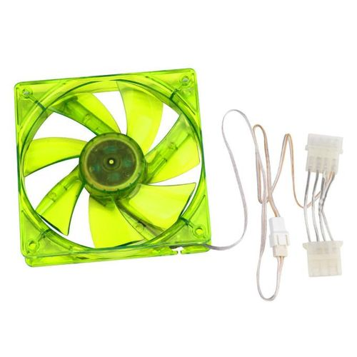 Muliawu Store Green 120mm 120x25mm 12V 4Pin DC Brushless PC Computer Case Cooling Fan 1800PRM-Green