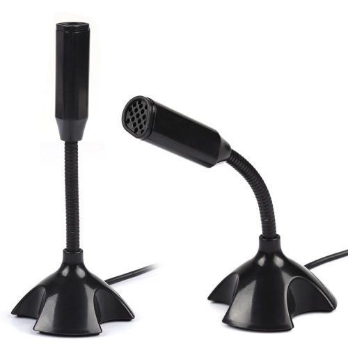 Mini Condenser USB 2.0 Microphone Flexible Desktop Stand Mic For PC Laptop